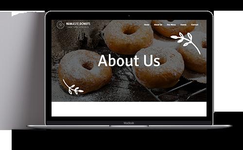 Website für veganes Unternehmen