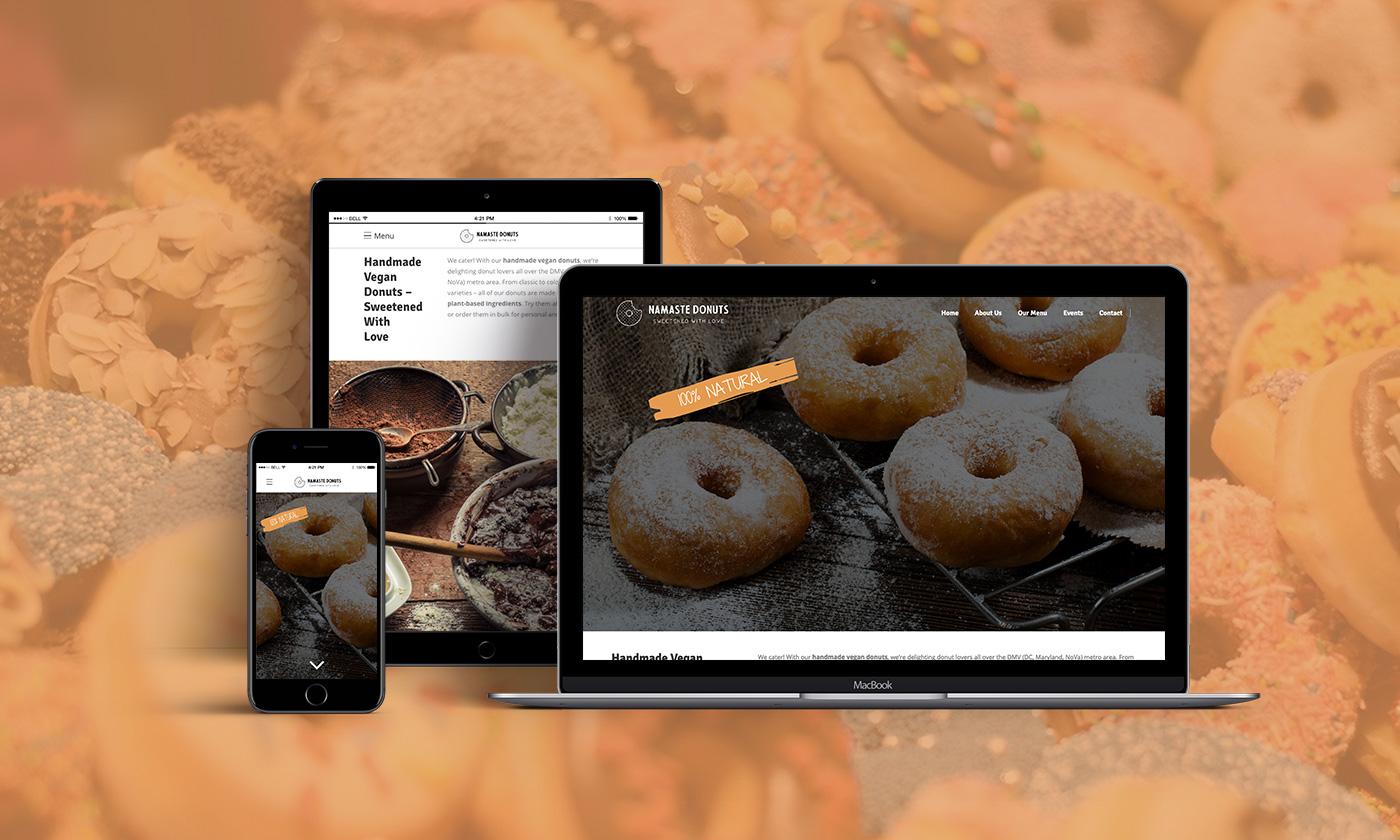 Vegane Webseite Header