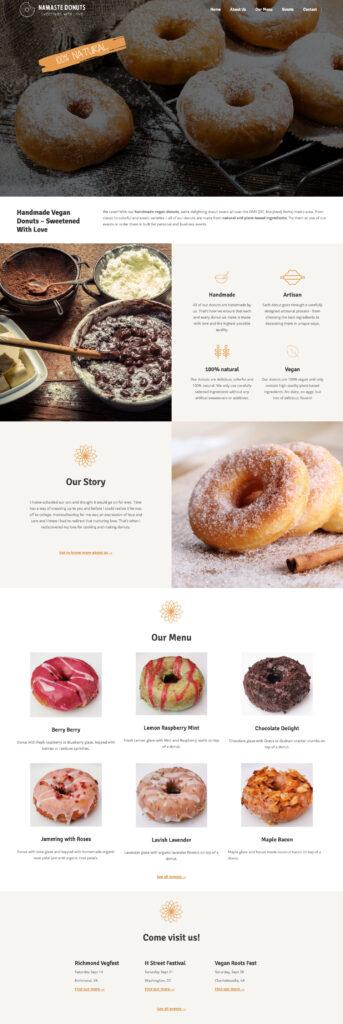 Veganes Unternehmen Webseite