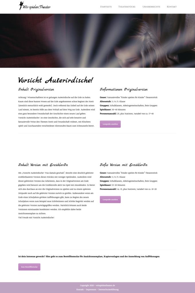 Website für Schriftsteller