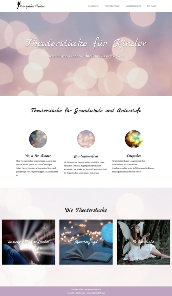 Website Schriftsteller