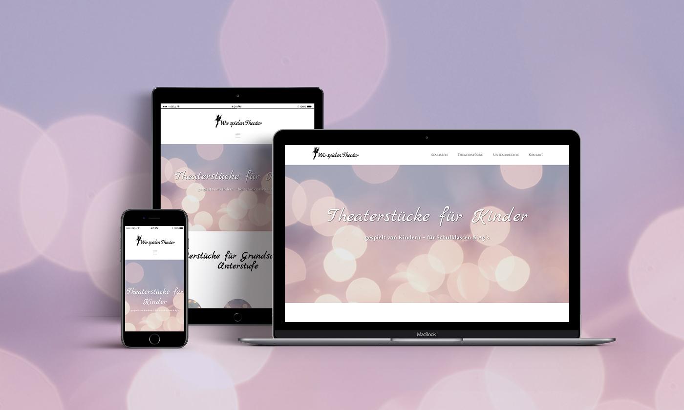 Theaterstücke Webseite Design